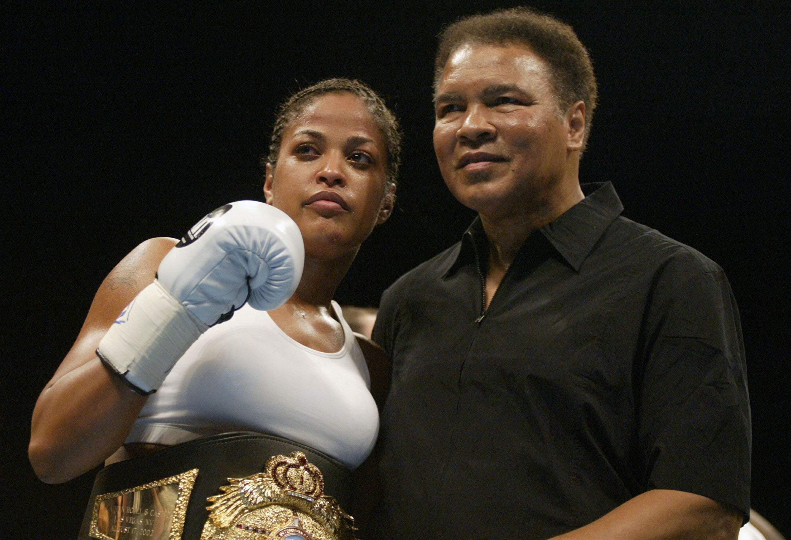 Laila Ali With Father Muhammad Ali
